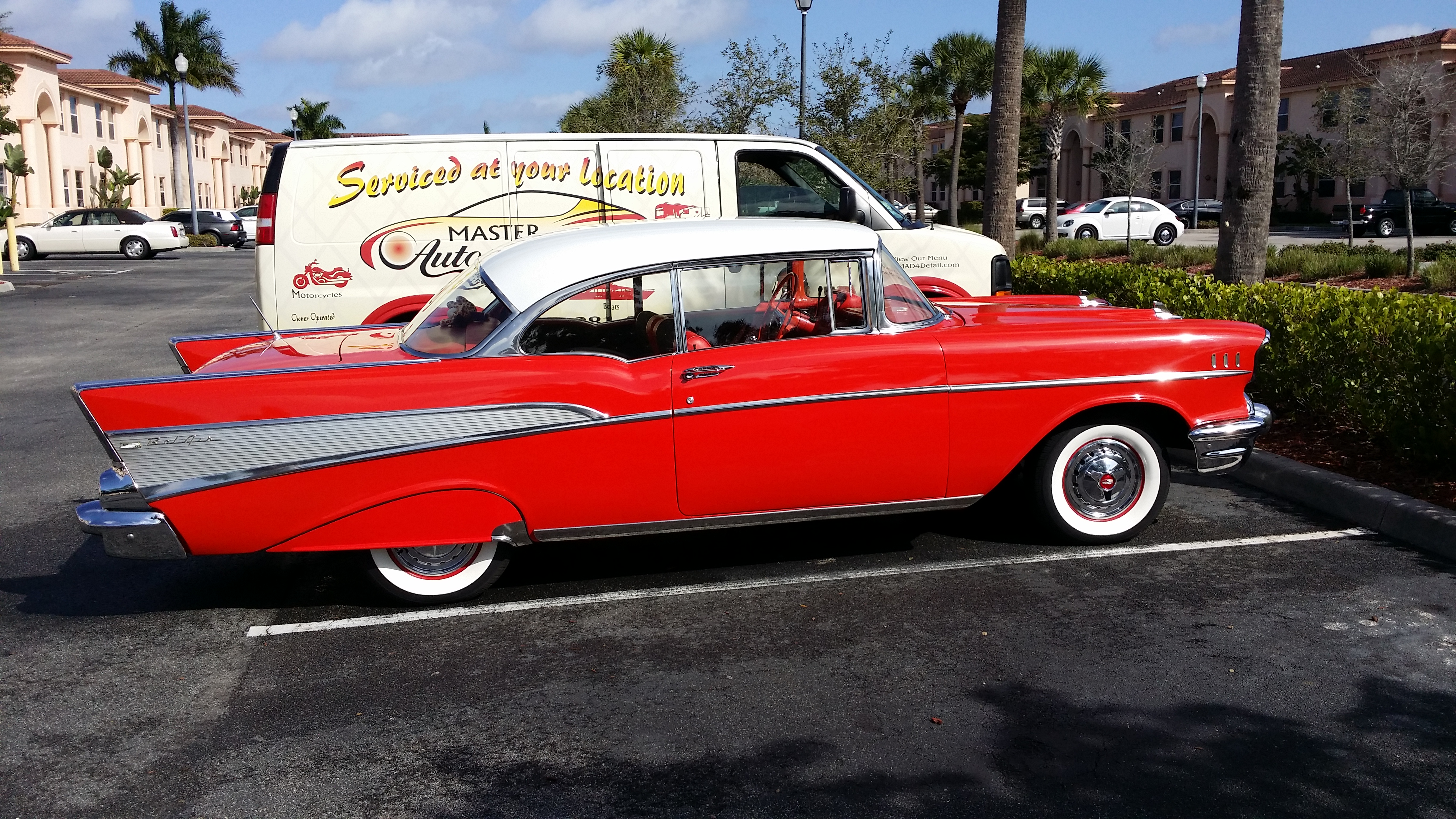old school classic chevy cherry red - Mad4Detail